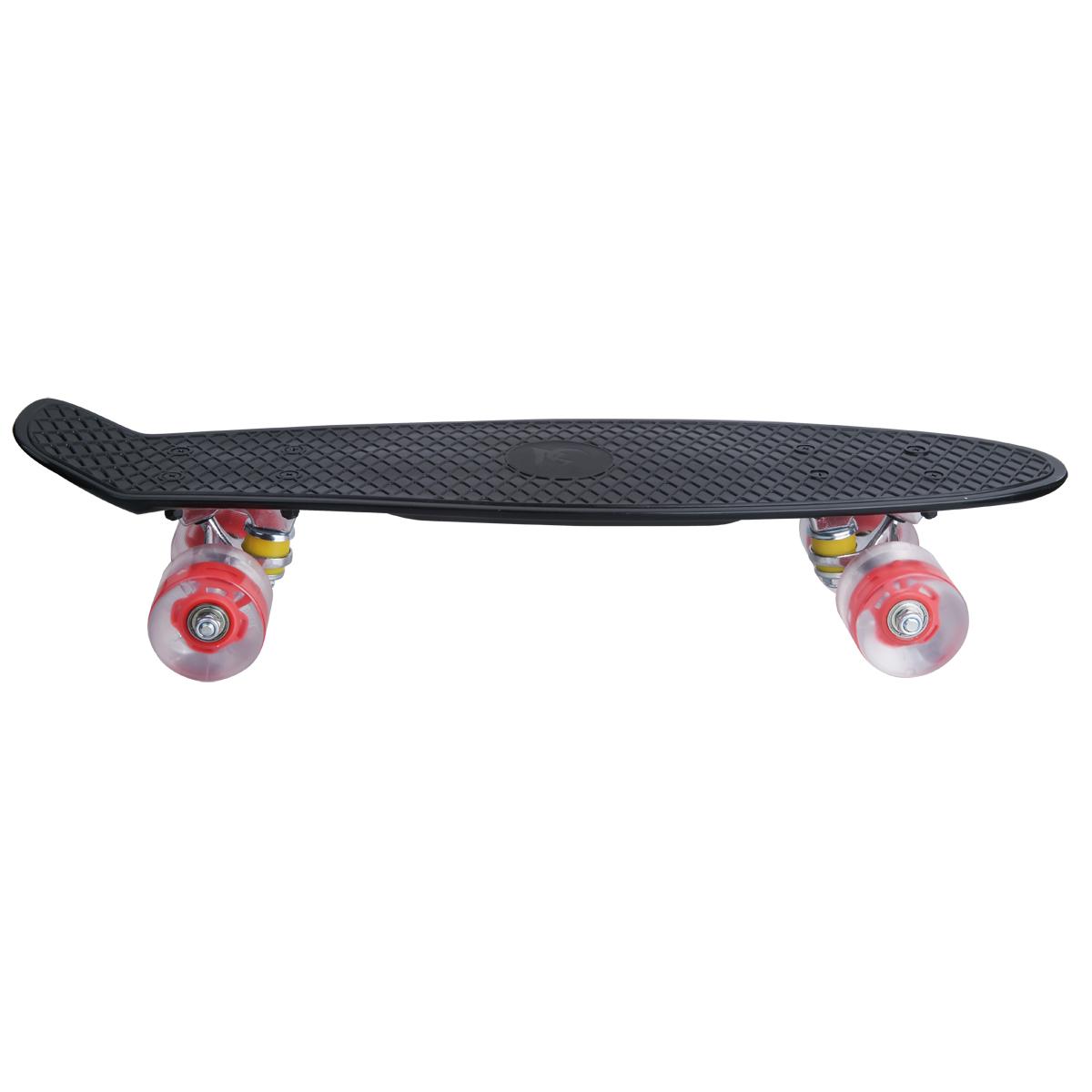 "LED 22/"" Mini Skateboard Cruiser Funboard Pennyboard 55.8 cm mit  Knieschoner Set"