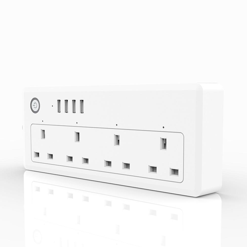 smart wifi power strip surge protected socket 4 usb port