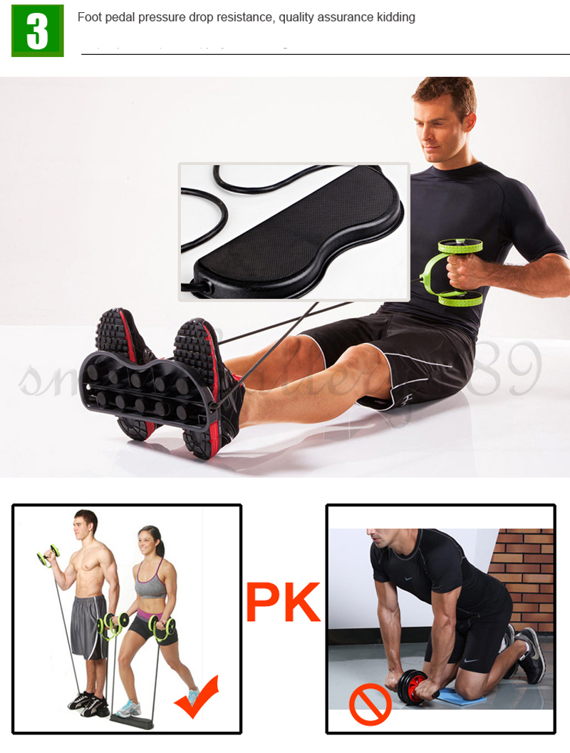 Original 1x Abdominal Exercisers dual Abs Abdominal Wheel Ab Roller Exercise Fitness Equipment Workout Gyp5u7