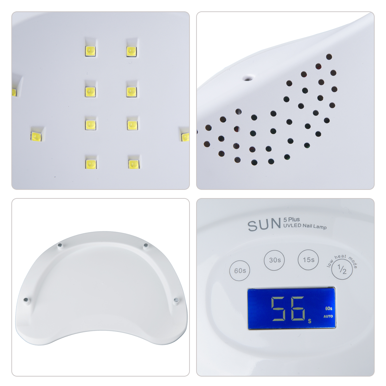 New 2 Hands Uv Nail Lamp 48w Led Light Dryer Art Curing