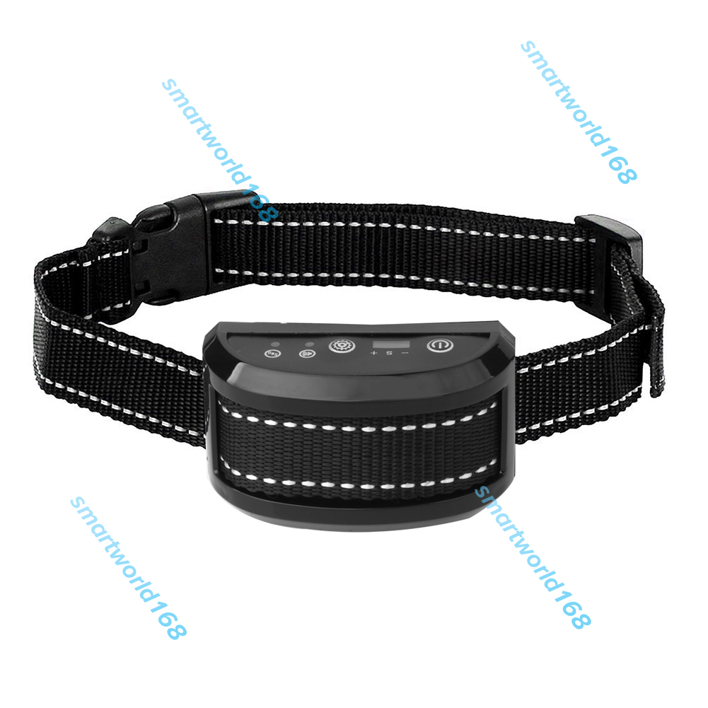 Humane No-Shock Dog Bark Control Collar Vibration & Sound Training Anti Barking