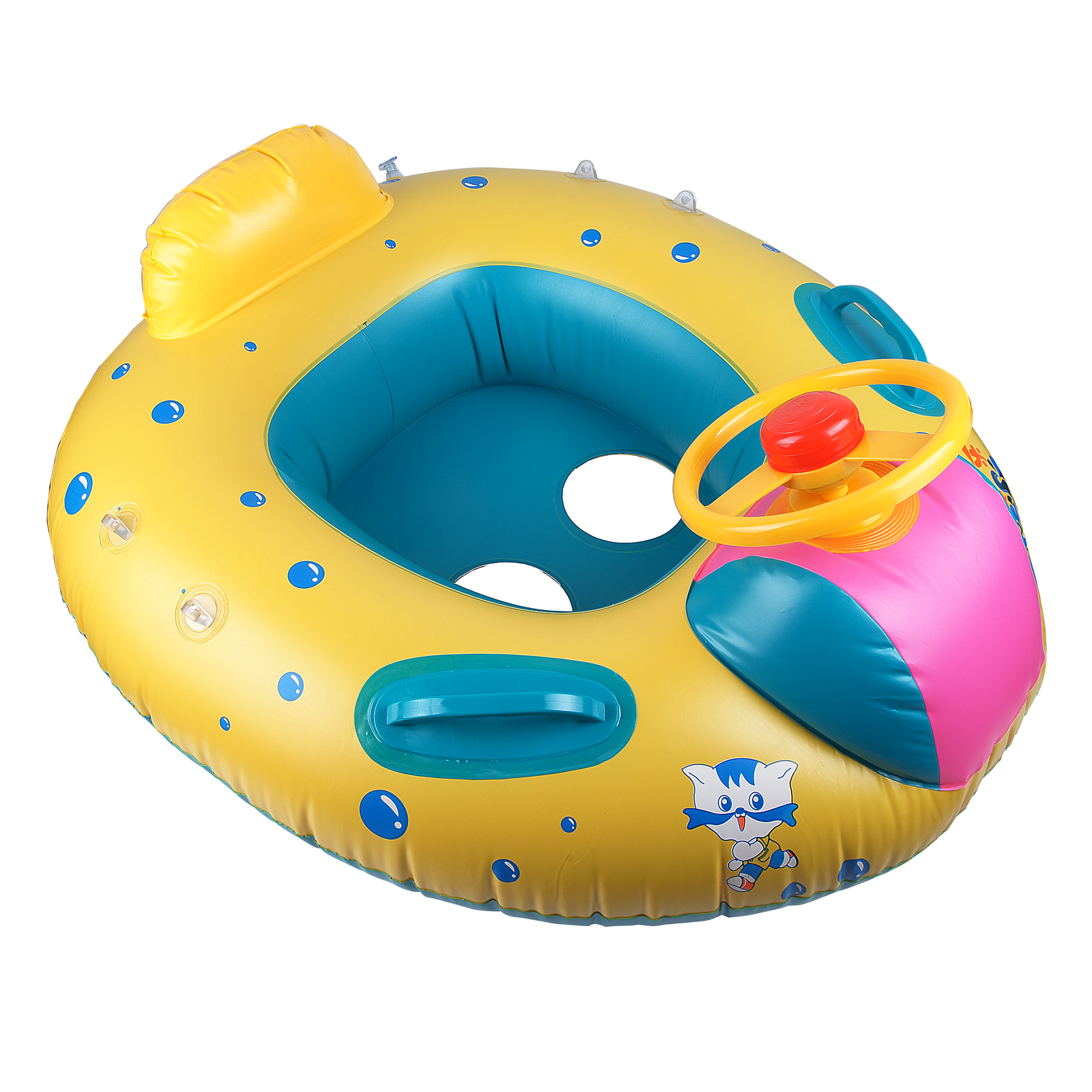Baby Kids Inflatable Swimming Pool with Sunshade Float Seat Boat